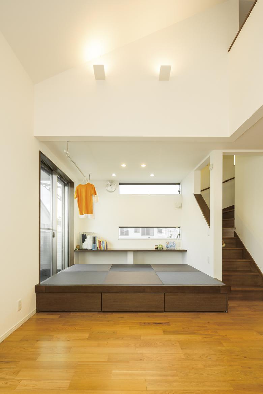 テキパキこなせる家事動線 の家 畳スペース