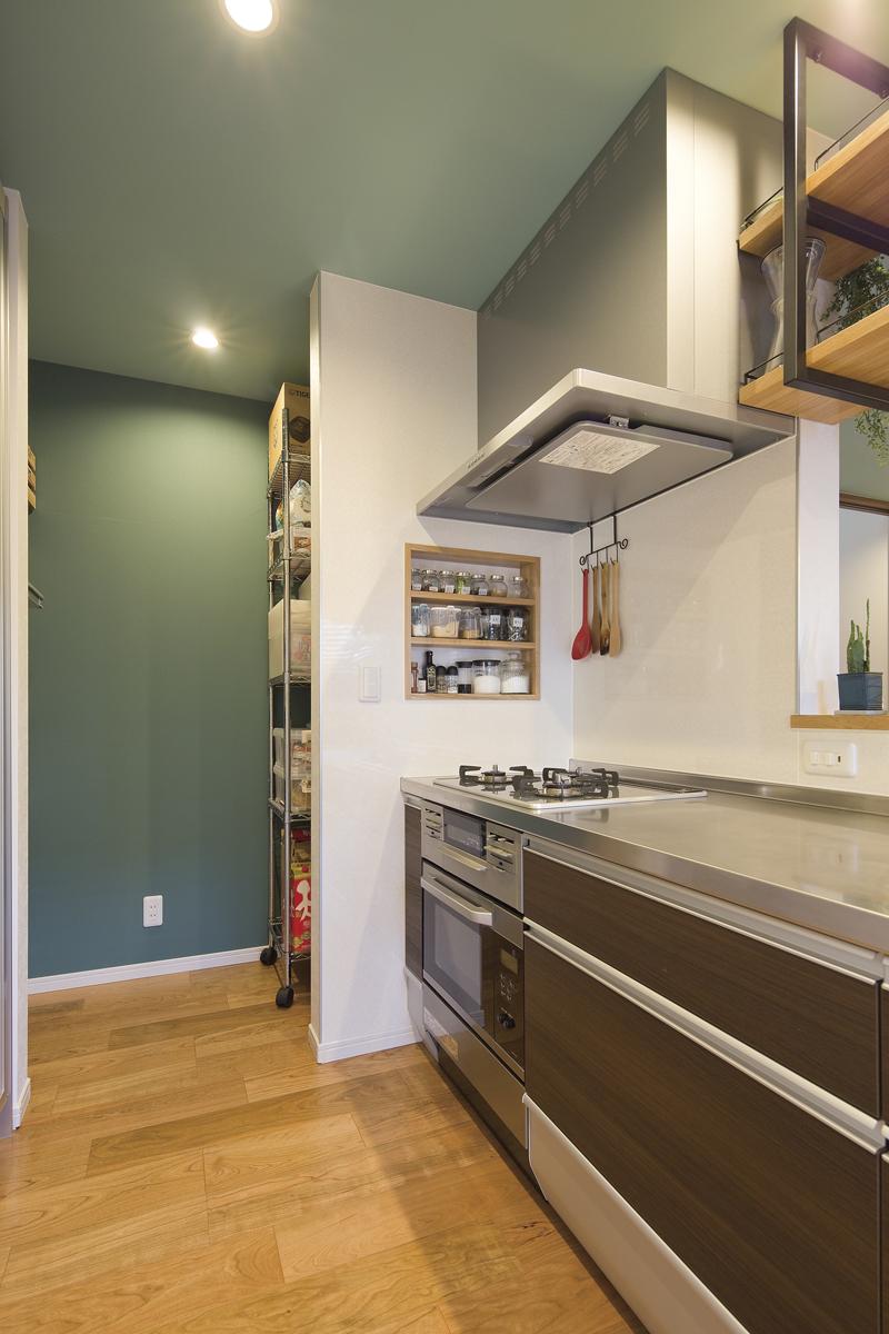 カフェのようなキッチンの家 キッチン
